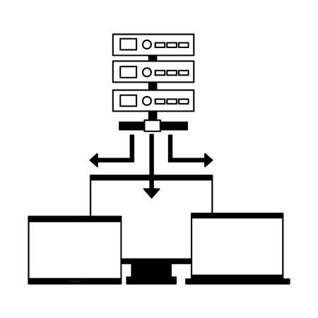 database server computer monitor laptop vector illustration Stock Vector - 125820785