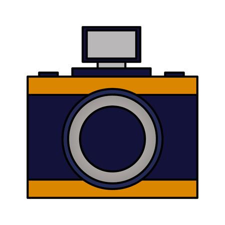photography camera device on white background vector illustration Stock Illustratie
