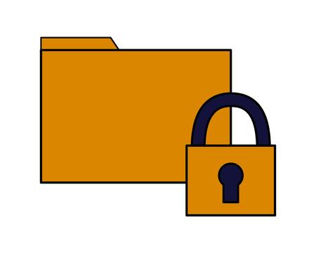 folder file data security white background vector illustration Illusztráció