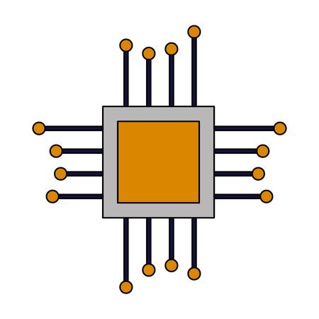 motherboard circuit hardware on white background vector illustration Illustration