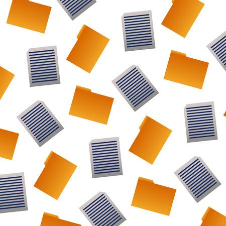 background folder file document pattern vector illustration