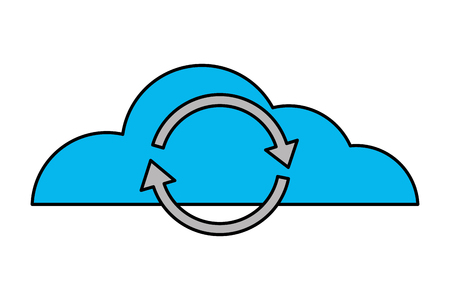 cloud computing reload data storage vector illustration