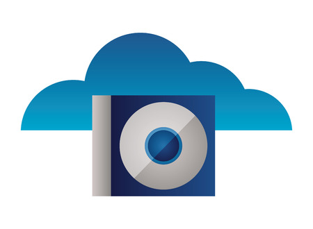 cloud computing compact disk drive vector illustration Illusztráció