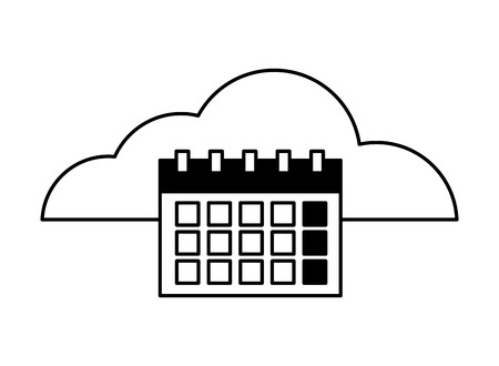 cloud computing calendar reminder plan vector illustration