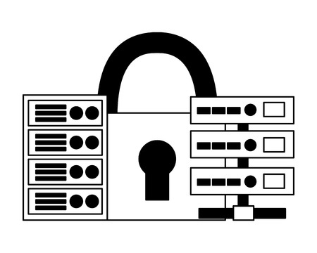 database server center storage security vector illustration Illustration