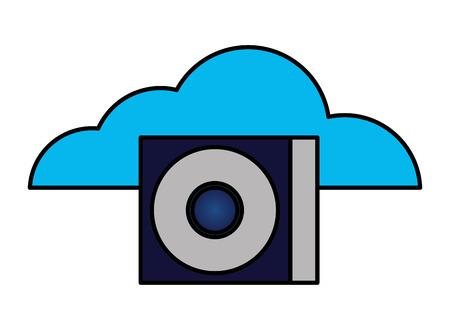 cloud computing compact disk drive vector illustration Illustration