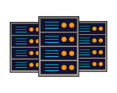 database server hosting technology storage vector illustration 向量圖像