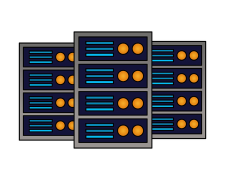 database server hosting technology storage vector illustration 일러스트