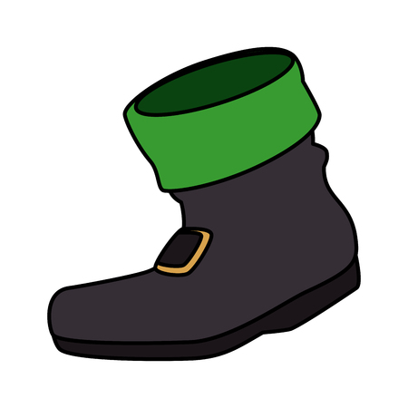 leprechaun boot saint patrick day vector illustration design