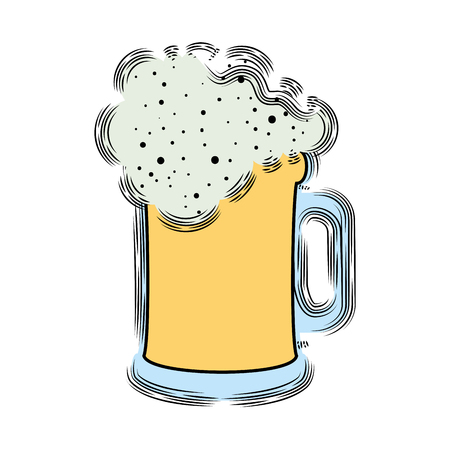beer jar isolated icon vector illustration design Stock Illustratie