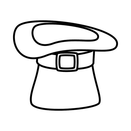 saint patrick card with hat leprechaun vector illustration design Foto de archivo - 125788949
