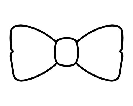 Elegante Fliege Zubehör Symbol Vektor Illustration Design Vektorgrafik