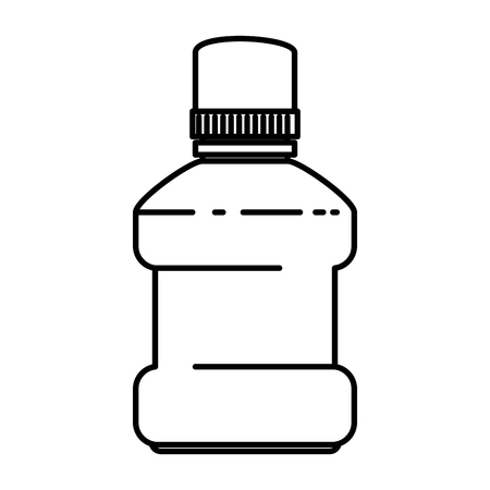 mouth wash bottle icon vector illustration design
