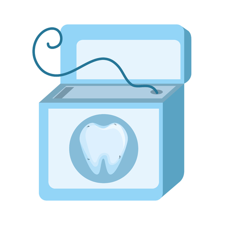 dental floss isolated icon vector illustration design Illustration
