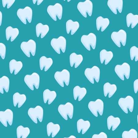 human teeth pattern background vector illustration design Illustration
