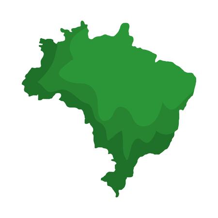 brazilian map isolated icon vector illustration design
