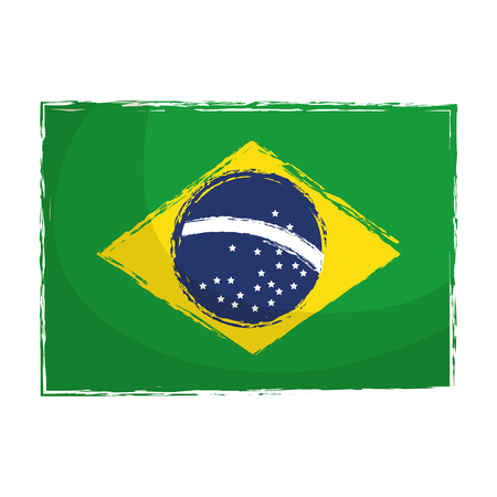 brazilian flag isolated icon vector illustration design
