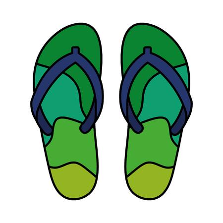 flip flops isolated icon vector illustration design