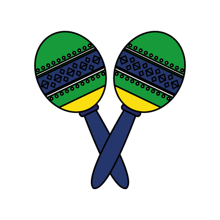 mexican maracas instrument icon vector illustration design Reklamní fotografie - 125792285