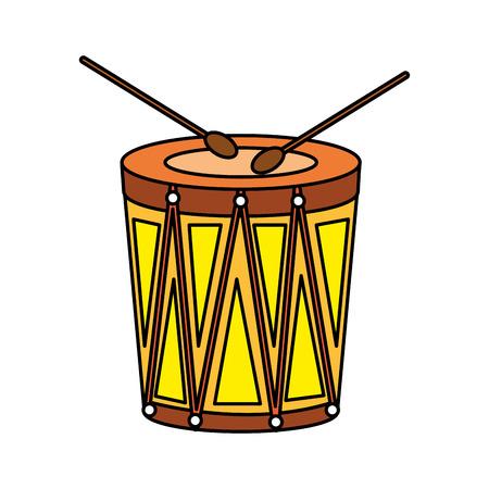 Carnaval bongo instrument icône vector illustration design Vecteurs