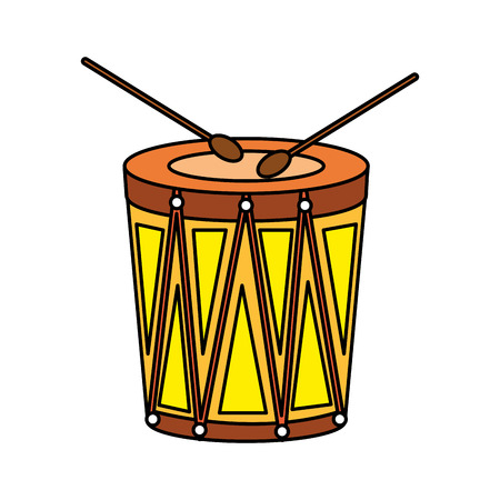 Karneval Bongo Instrument Symbol Vektor Illustration Design Vektorgrafik