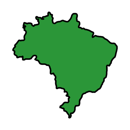 brazilian map isolated icon vector illustration design