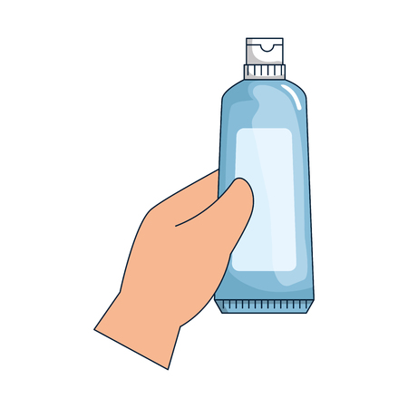 hand with tooth paste vector illustration design