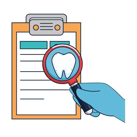 dentist checklist order icon vector illustration design Stock fotó - 125792324