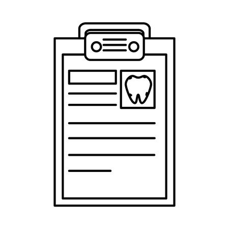 dentist checklist order icon vector illustration design