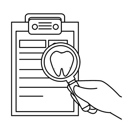dentist checklist order icon vector illustration design
