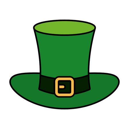 saint patrick card with hat leprechaun vector illustration design Foto de archivo - 125697307