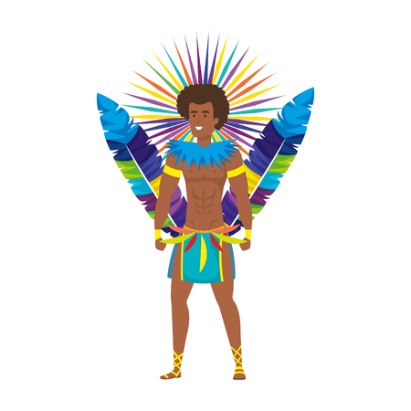 brazilian male dancer character vector illustration design Foto de archivo - 116198256