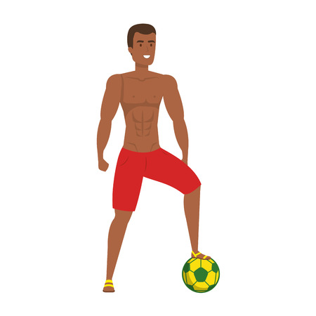 young athletic black man playing soccer vector illustration design