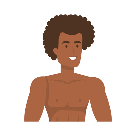 young athletic black man character vector illustration design Illusztráció