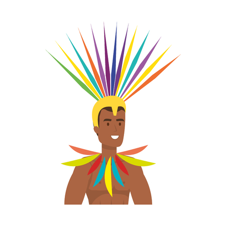 brazilian male dancer character vector illustration design