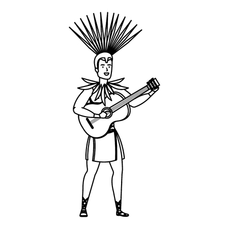 brazilian male dancer playing guitar vector illustration design Foto de archivo - 116234271