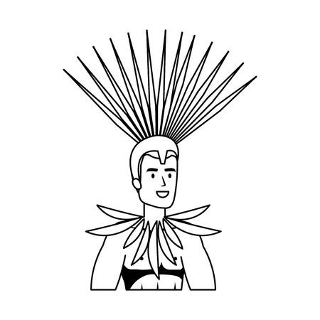 brazilian male dancer character vector illustration design Foto de archivo - 116235386