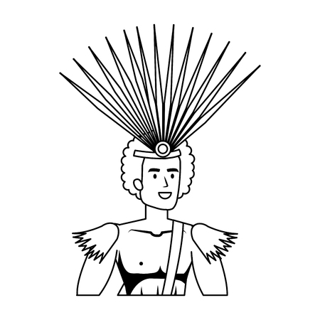 brazilian male dancer character vector illustration design  イラスト・ベクター素材