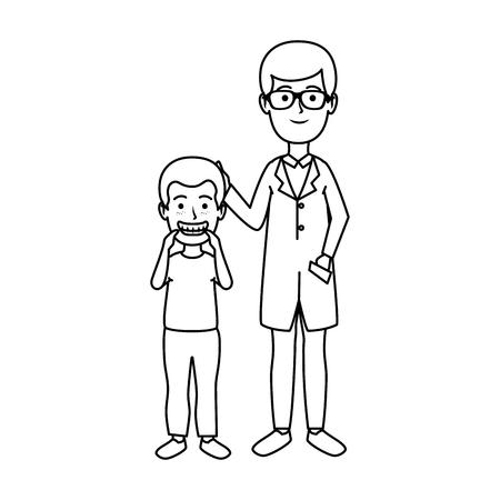 young dentist with boy patient vector illustration design Zdjęcie Seryjne - 125697393