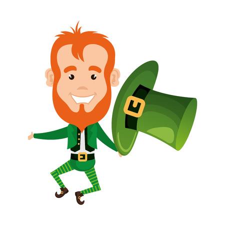 Leprechaun saint patrick caractère vector illustration design