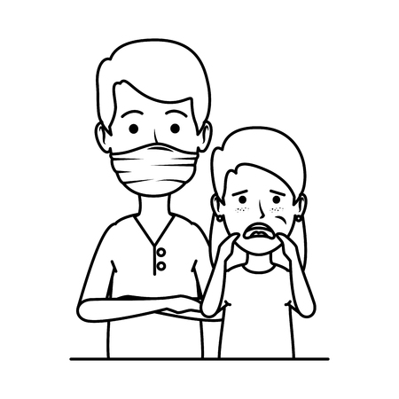 young dentist with girl patient vector illustration design Archivio Fotografico - 116235592