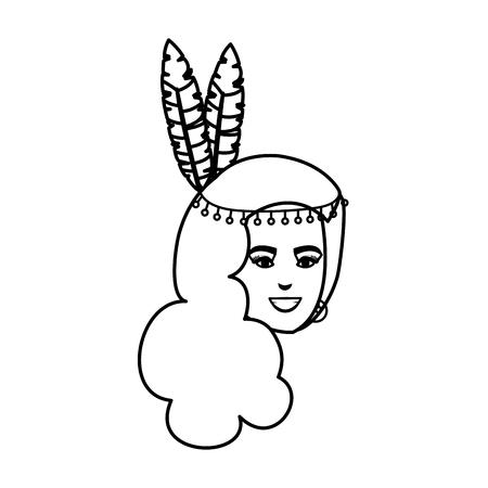 beautiful brazilian garota head character vector illustration design 向量圖像
