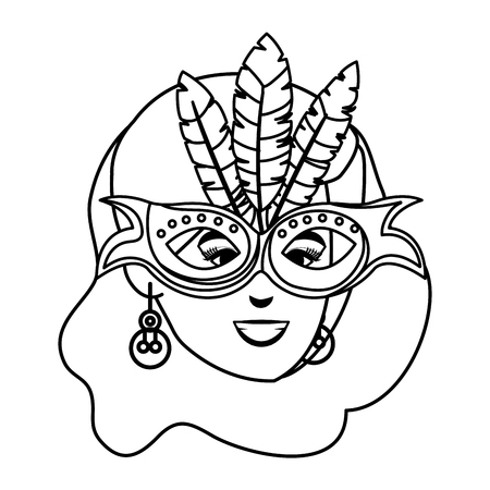 beautiful brazilian garota head character vector illustration design Illusztráció