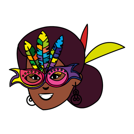 beautiful brazilian garota head character vector illustration design