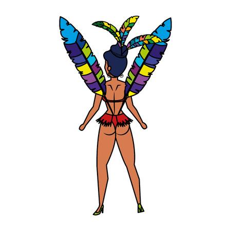 beautiful brazilian garota character vector illustration design  イラスト・ベクター素材