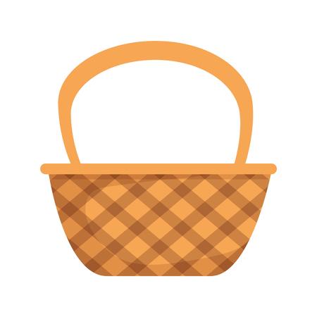 Panier mignon paille icône vector illustration design