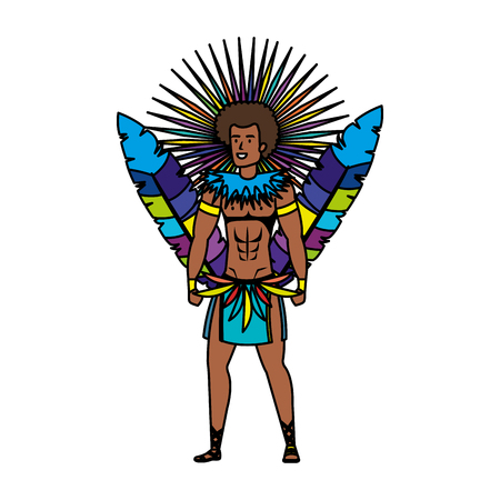 brazilian male dancer character vector illustration design Foto de archivo - 116284171