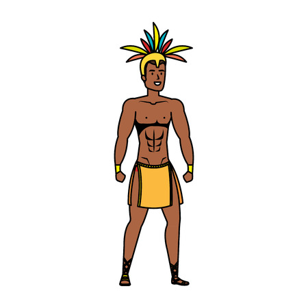 brazilian male dancer character vector illustration design Foto de archivo - 116284192