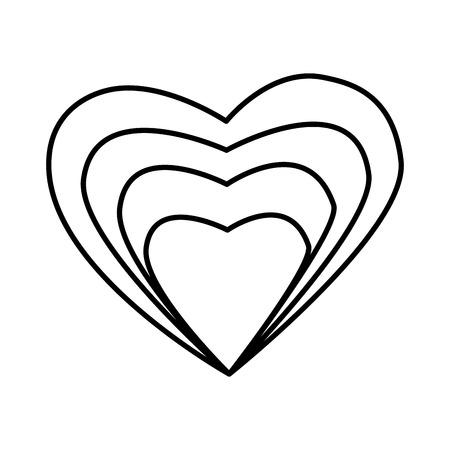 heart love valentines card vector illustration design Stock Illustratie