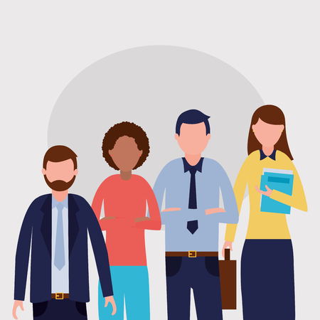 work business people  group background vector illustration